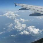 Visoko nad oblaki proti Barceloni