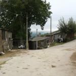 Ena izmed mnogoštevilnih romarskih poti čez kmečka dvorišča z vonjavami in kravjimi d...