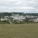 Pogled na našo novo postojanko - mesto Portomarin.
