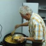 Naš duhovni in romarski voditelj nam je tudi tokrat pripravil zajtrk, sataraš in kavo.