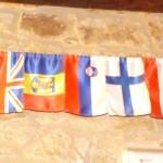 ...naša zastava je tudi krasila zid hostla...