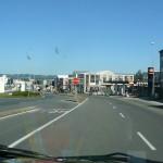 Santiago po glavni cesti.