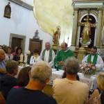 Pred mašo je bil še nagovor za današnjo angelsko nedeljo, nato pa skupni maši in z blagoslovom vseh romarjev (celo iz Mehike,...)